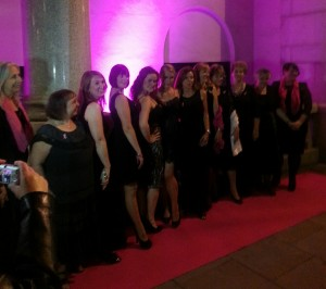 Camilla Kerslake and the Sing 2 Beat Breast Cancer choir at the Inspiration Awards for Women 2013